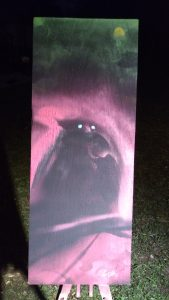 The Owl Is Wise Because It Can See In The Dark spray painting by Stephen Elliott