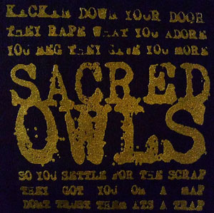 Sacred Owls Metallic Gold Patch