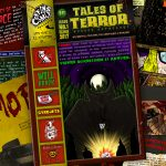 Issue #1 of the musical comic, Tales of Terror from Coffins Comix with music and comics by Sacred Owls, Will Brack, Gyrojets, The Prople, Dougie Flesh and the Slashers, and Jess-o-Lantern