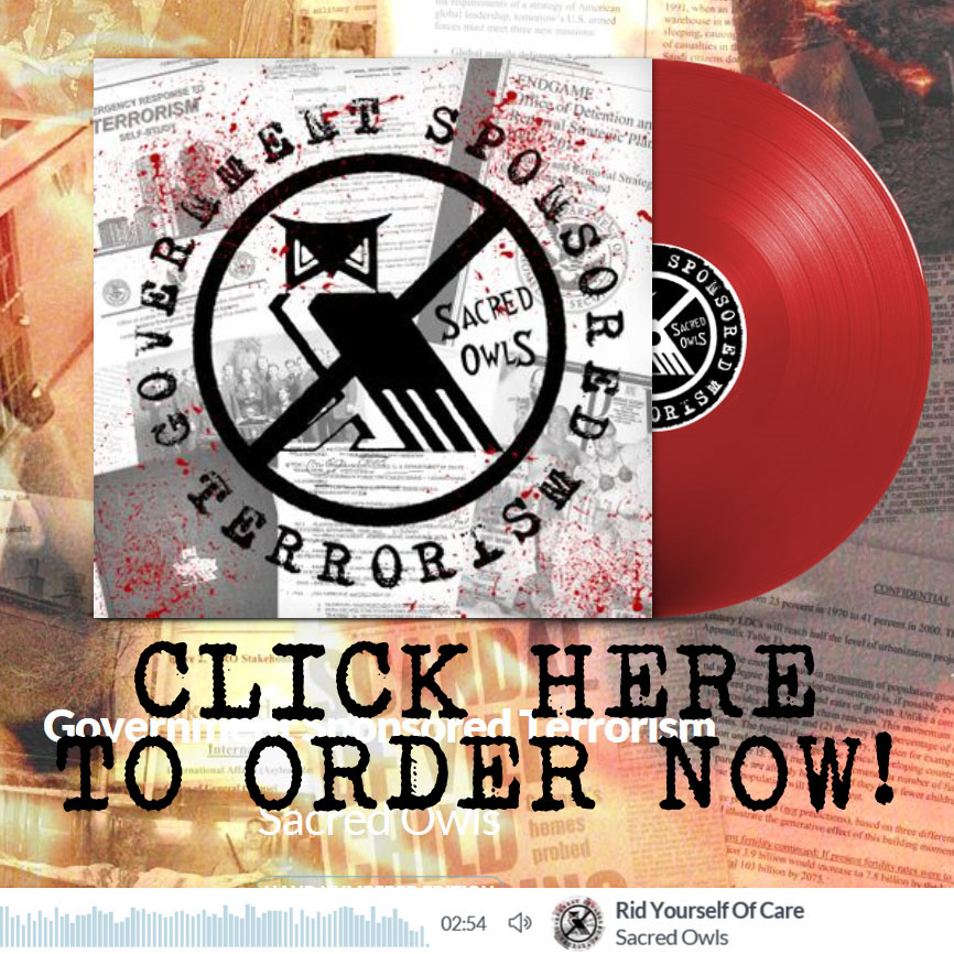 We are excited to announce that we are pressing government sponsored terrorism on red vinyl for the first time we have less than a week left to fill our